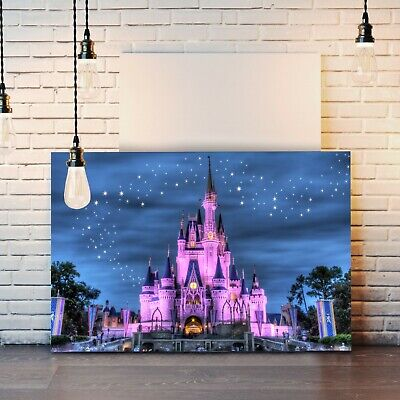 Disney Princess Castle Girl Canvas Wall Art Print Artwork Painting Deep Framed • 7.99£
