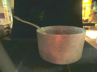 $ CDN115.03 • Buy  Authentic Antique Primitive Early 1800's Hand Forged Solid Copper Cooking Pot
