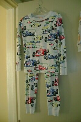 $17.99 • Buy Hanna Andersson Blue, Red & Yellow Race Cars Organic Cotton Pajamas-110  5 US
