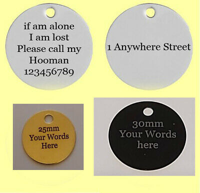 £3.99 • Buy Personalised Deep Engraved Dog Cat Pet Tag ID Collar Tags Double Sided Pets Name