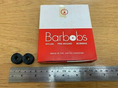 Barbobs Pre-wound Shuttle Bobbins X 50 - Style A - 33meters Black PS705268 • 17.38£