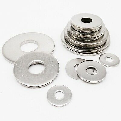 $1.99 • Buy M2.5-M16 304 Stainless Steel Extra Large Size Big Wide Flat Washer Plain Gasket