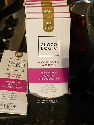 Chocologic Dark Chocolate 80g Bar 90% Less Sugar *Keto Friendly Low Carb Diet* • 2.85£