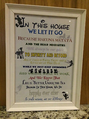 'In This House We Do Disney' Picture (Digital A4 Poster / Print) • 1.99£