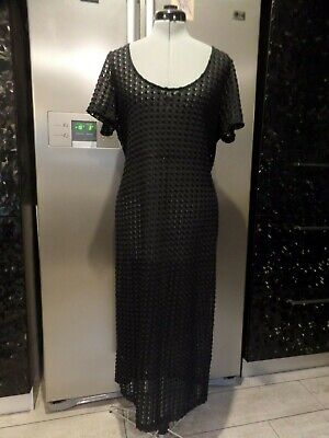 AU24.99 • Buy ASOS Beach Pool Cover Up Long  Lace Dress STRETCH Plus Size 20  Black As New