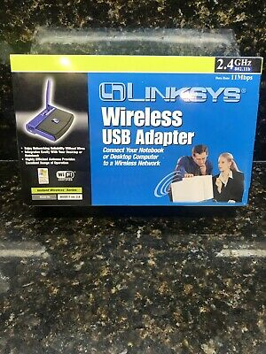 $14.99 • Buy New Linksys WUSB11 Wireless Ver. 2.6 USB Adapter 2.4 GHz 802.11b Free Shipping