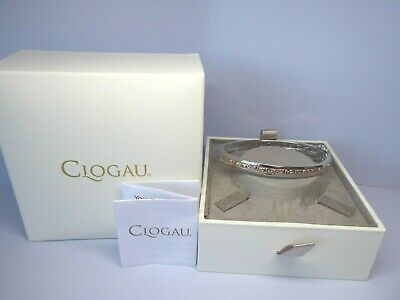 Clogau Gold, Silver & Rose Gold Tree Of Life Bangle RRP £430 • 125£