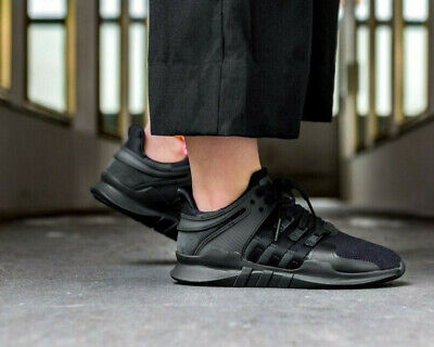 Adidas EQT Support ADV Womens Core Black & Sub Green Trainers / Shoes • 49.99£