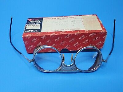 $71 • Buy Vintage Bausch & Lomb Steel Mesh Safety Glasses Motorcycle Steampunk Goggles