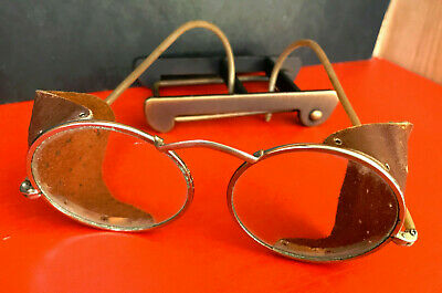 $99.99 • Buy Vintage Steampunk Auto Glasses Goggles Antique Driving Motorcycle Aviator Safety