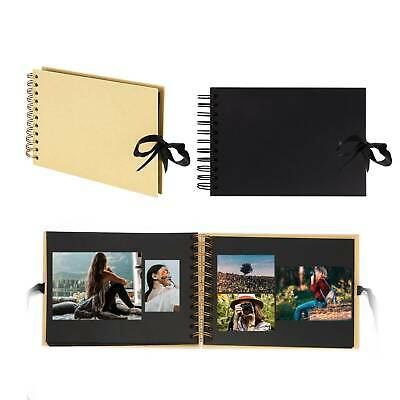 AU18.99 • Buy 80 Pages Photo Album Memo Book Paste DIY Scrapbook Valentines Day Wedding Gifts