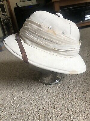 Ww1 White Pith Helmet With Original Helmet Box • 180£