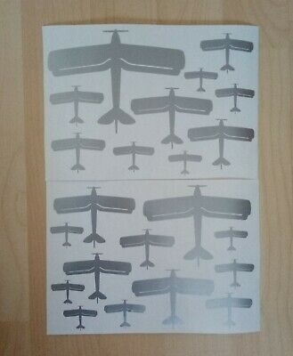 £4.95 • Buy DH Tiger Moth Biplane Aircraft Silhouette Stickers A4 Self Adhesive Vinyl Planes