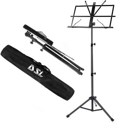 £9.99 • Buy DSL Sheet Music Book Stand +Carrying Bag Portable Folding Metal Stand Adjustable