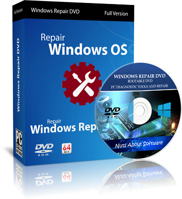 Windows 10 7 8 Xp Vista Pro Boot Cd Pc Repair Recovery Disc Hp Dell Acer • 3.95£