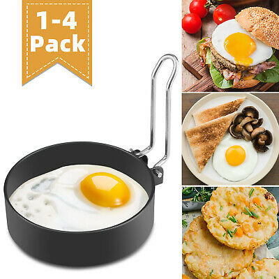 $7.98 • Buy Stainless Steel Round Omelette Fry Egg Ring Pancake Poach Mould Handle Non Stick