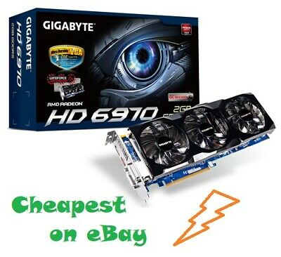 $163.80 • Buy Gigabyte AMD Radeon HD 6970 GPU 2GB Graphics Card Gaming Video Card