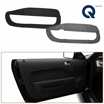 $20.94 • Buy 2pcs Leather Door Panel Insert Cards Cover  For Ford Mustang 2005-2009 Black