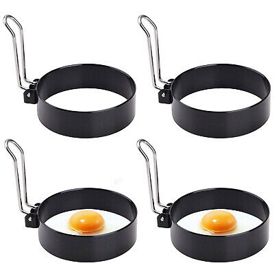 $37.96 • Buy 4Pcs Fried Egg Non Stick Stainless Steel Pancake Ring Mold Cooking Kitchen Tools