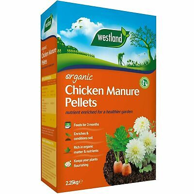 Westland Organic Chicken Manure Pellets, Slow Release Rich Compost Feed - 2.25kg • 7.12£