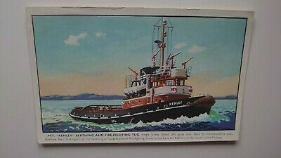 M.T.  Kenley  Berthing And Fire-Fighting Tug Postcard • 3£