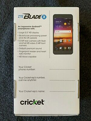 "$10.50 • Buy NEW ZTE Blade X Android Smartphone 16GB Black 5.5"" HD Quad-core Cricket"