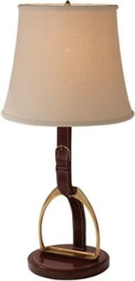 $655 • Buy Maitland Smith  PORT LACQUERED LEATHER INLAID TABLE LAMP