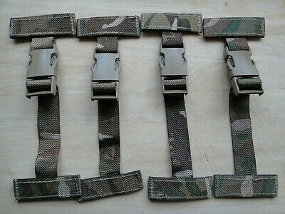 British Army MTP Osprey 4 X T Bar Side Clips / Straps Op's Panel MOLLE Fittings • 5.99£