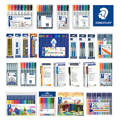 STAEDTLER BallPoint Pens Colouring Pencils Whiteboard Permanent Markers Triplus • 7.50£
