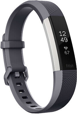 $ CDN104.14 • Buy Fitbit Classic Band For ALTA HR Small - Gray With Extra Stainless Steel Band