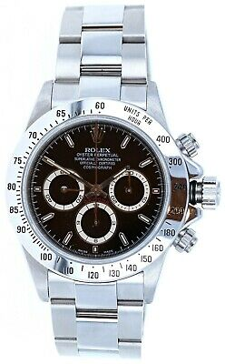 $ CDN38136.02 • Buy Rolex Daytona Zenith Movement 40mm Black Dial Watch 16520 Papers A Serial