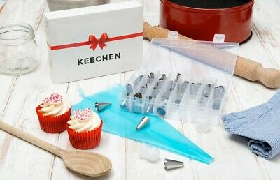 £5 • Buy 42 Pieces Icing Piping Nozzle Tool Box – Cake Decorating Tips - Get Baking