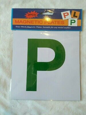 New Driver P Plate Stickers Safety Car Learner Just Passed  Legal Signs • 2.89£