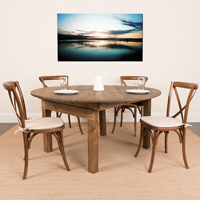 $548.12 • Buy Round Dining Table | Farm Inspired, Rustic & Antique Pine Dining Room Table
