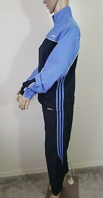 $50 • Buy Adidas Women's Tracksuit Black/Blue Lightweight Set Vintage Size Small EUC
