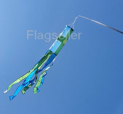 £8.99 • Buy Derbyshire Flag Tube Windsock 60  For Telescopic Flag Pole Festival And Camping