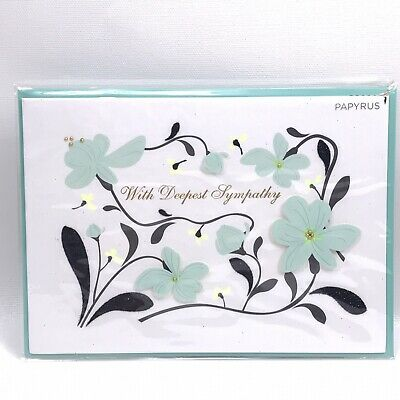 $7.45 • Buy PAPYRUS With Deepest Sympathy Greeting Card & Envelope