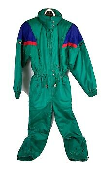 $39.98 • Buy Vintage 80s 90s Descente Full Ski Snow Suit Womens Small S Turquoise Red VTG