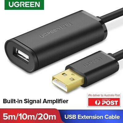 AU25.50 • Buy Ugreen USB 2.0 Extension Cable USB Active Amplifier Repeater Cable 5m 10m
