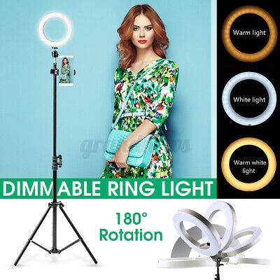 AU52.99 • Buy Dimmable LED Ring Light Adjustable 160cm Tripod Stand For Studio Video Make Up