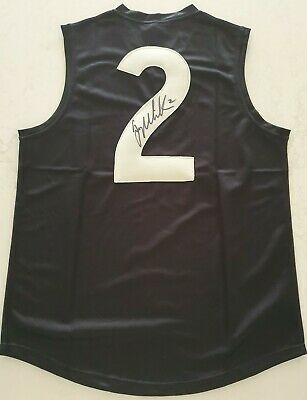 AU196 • Buy Greg Williams Signed Afl Size Medium Football Guernsey Carlton Blues Brownlow