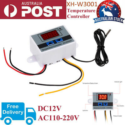 AU14.01 • Buy Digital Temperature Controller Thermostat Control Switch W/ Probe LED Waterproof