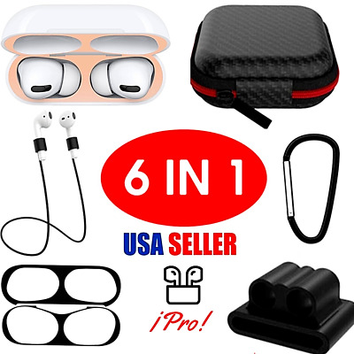 $ CDN15.12 • Buy 6 In 1 Silicone Protective Airpods Case Skin Cover For Apple AirPods Pro Headp..