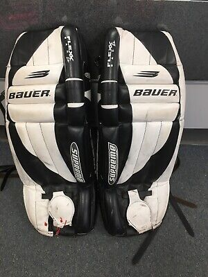 "$86 • Buy Junior Size 30"" Inch Bauer Supreme Ice Hockey Goalie Leg Pads"