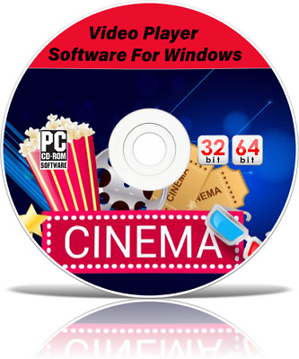 New Avi Mp4 Wmv Mpeg Divx Dvd Video Media Player Software Cd + Windows 7 8 10 • 3.95£