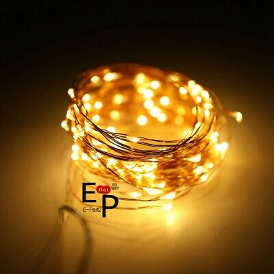 $4.99 • Buy LED String Fairy Lights Copper Wire Battery Powered Waterproof 20 / 50 / 100 LED