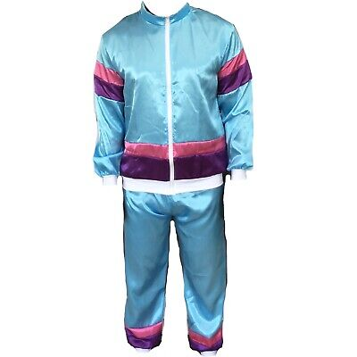 Mens 1980s 80s Shell Suit Tracksuit Scouser Fancy Dress Costume Stag Night • 14.99£