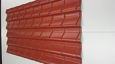 Tile Effect Roofing Plastisol,Pan Tile Effect Metal Sheets Shed Roof • 2.50£