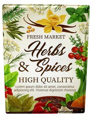 £10.78 • Buy Tin Sign Kitchen Herbs Spices