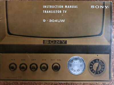 $4.99 • Buy Vintage Instructions Manual For Sony Transistor TV 9-304UW 4-95-025-11